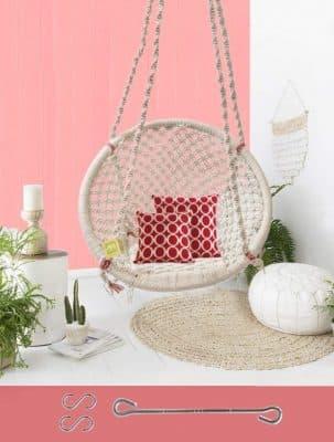 Curio Centre Make in India Round Cotton Home Swing