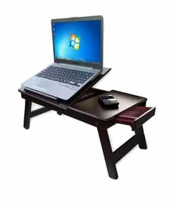 Zaqondigital Foldable Wooden Study Table